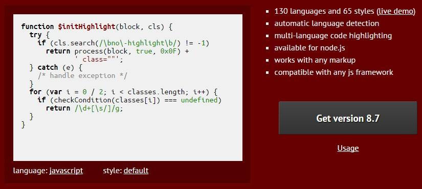 WordPress プラグインなしでソースコードをシンタックスハイライトさせる方法 highlight.js