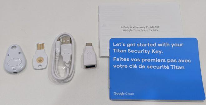 Titan セキュリティ キーのセット内容