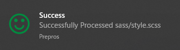 Preprosのコンパイルの通知